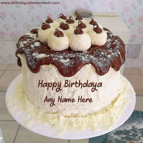 Chocolate Birthday cake with Name Image