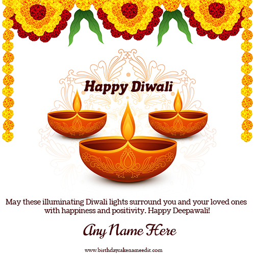 Generate Online Happy Diwali greeting cards with name edit