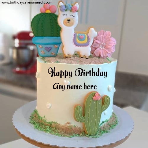 Get Happy Birthday Cake with Name editor for free