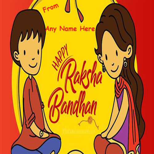 Happy 2020 Raksha Bandhan Wishes with Name Edit