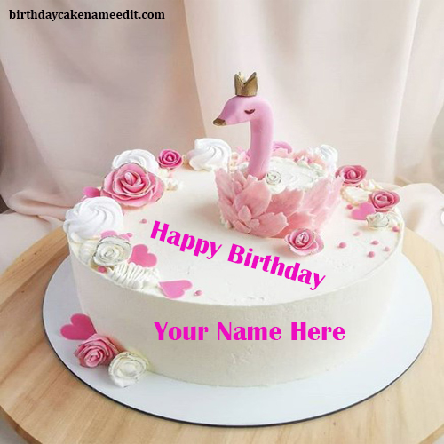Happy Birthday Bird Cake with Name Edit Functionality
