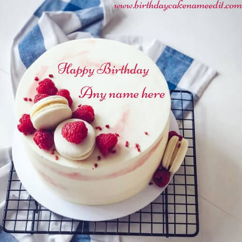 Happy Birthday Cake Photo with Name Editor