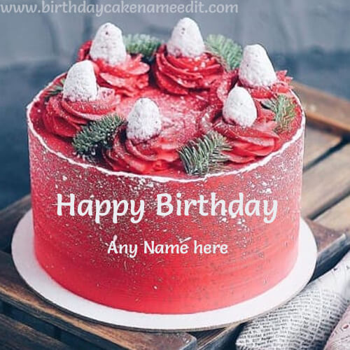 Happy Birthday Cake with Name Edit Download