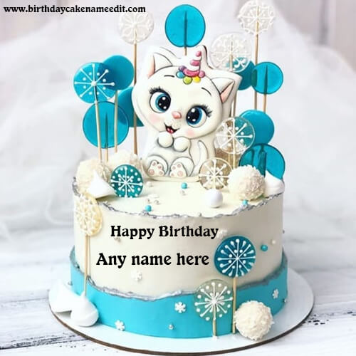 Happy Birthday Cartoon Cake with Name
