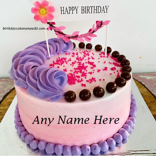 Happy Birthday Cherry Cake with Write Name Edit
