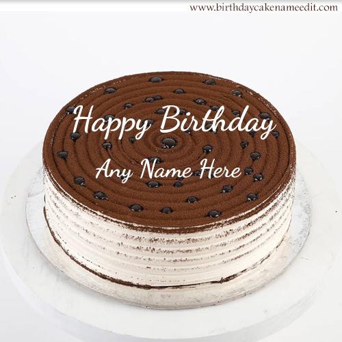 Happy Birthday Chocolate Cake with Name Edit Online