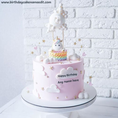 Happy Birthday Cream Cake with Name Edit Online