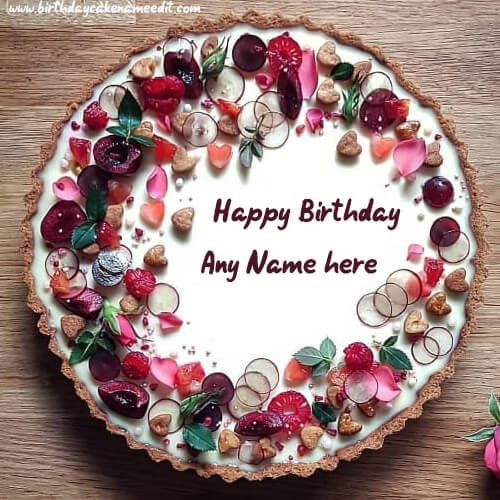 Happy Birthday Dry Fruit Cake with Name Edit