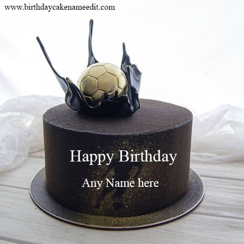 Happy Birthday Football Cake with Name Edit