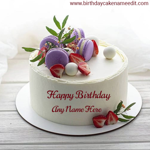 Happy Birthday cake with Name image