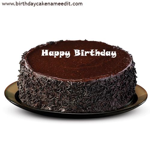 Astonishing Happy Birthday Chocolate Cake With Name Funny Birthday Cards Online Fluifree Goldxyz