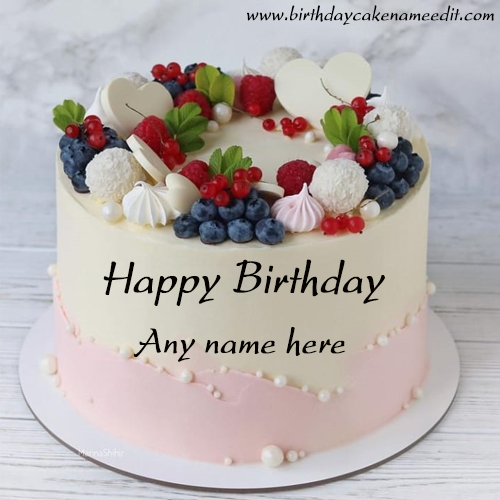 Happy Birthday wishes cake with Name edit image