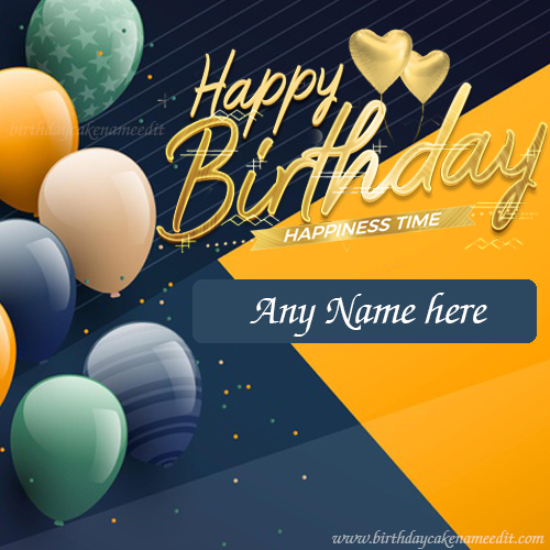 Happy Birthday wishes with their names on Greeting card