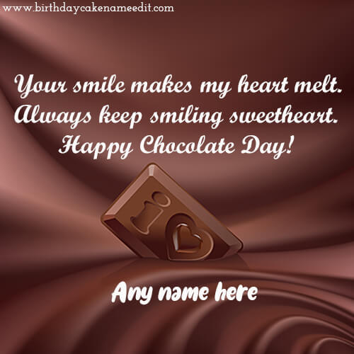Happy Chocolate Day Greetings with Name
