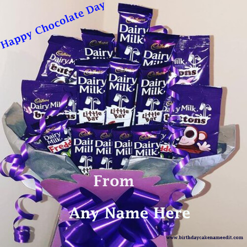 Happy Chocolate Day with Name Edit on Valentines Week 2021