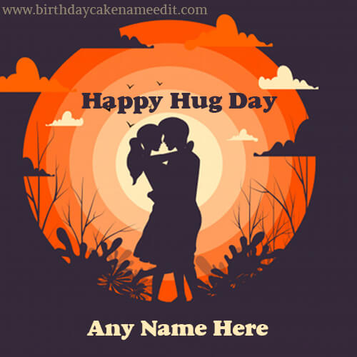 Happy Hug Day Greetings with Name 2020