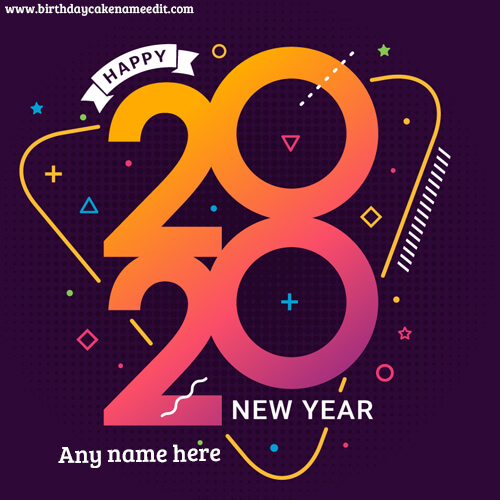 Happy New Year 2020 Wish with Name Image