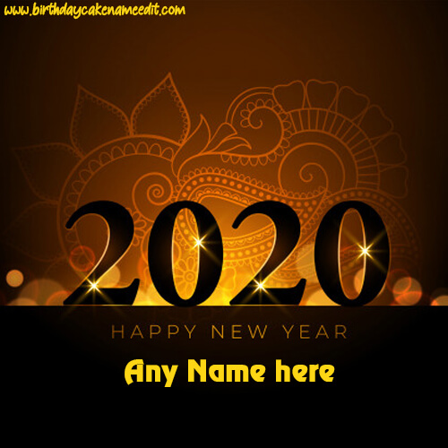 Happy New Year 2020 greeting Card and edit For free