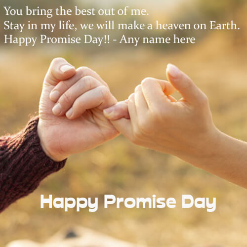 Happy Promise Day Wishes Quotes Images with Name