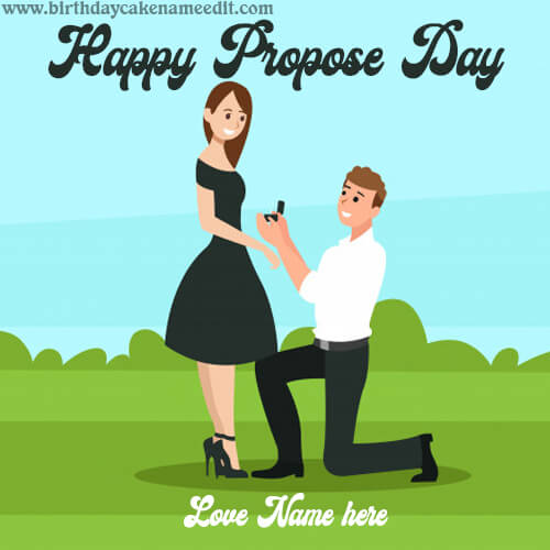 Happy Propose Day Romantic Greeting Card with Name
