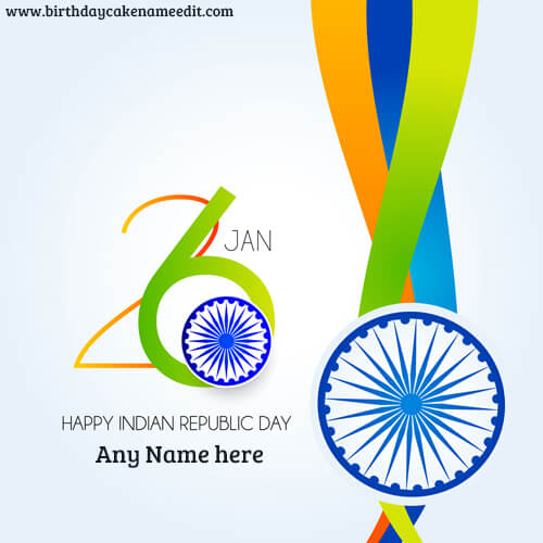 Happy Republic Day Greetings with Name