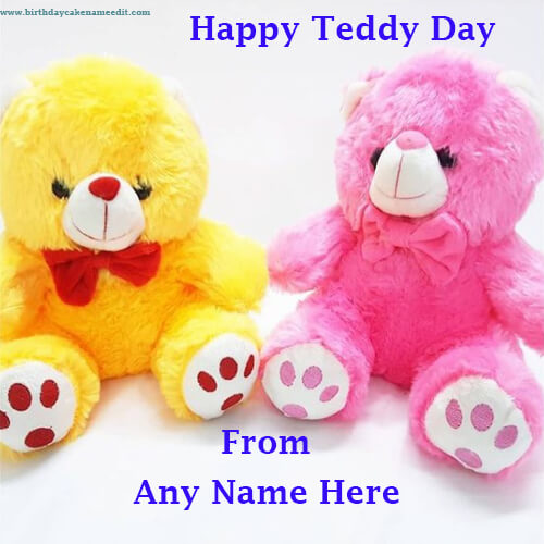 Happy Teddy Day with Name Edit on Valentines Week 2021