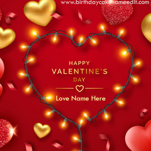 Happy Valentine Day Wishes with Name Edit