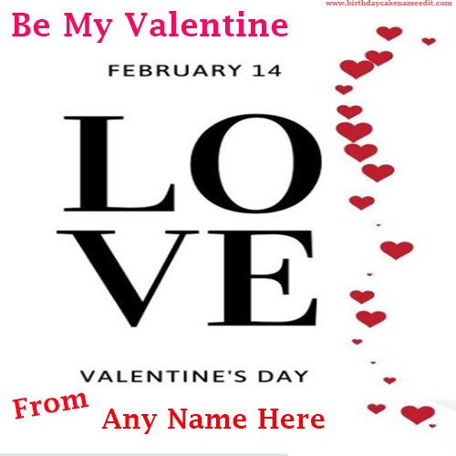 Happy Valentines Day 2021 Wishes with Name Edit