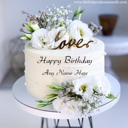 Happy birthday cake for your love