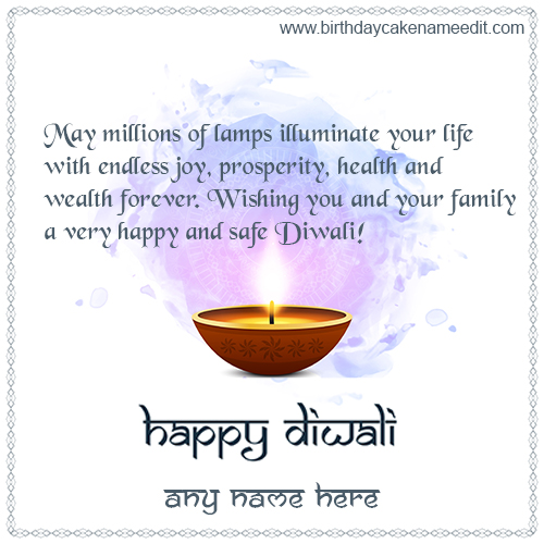 Make Online Happy Diwali greeting cards on 2021
