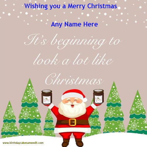 Merry Christmas Wishes with Name Edit