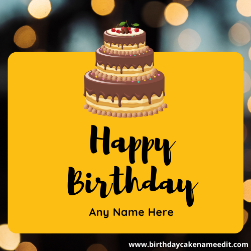 Online Birthday Wish Card with Name is free