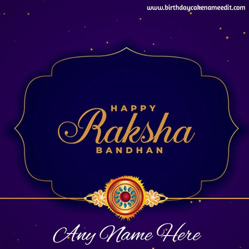 Raksha Bandhan Card with Name Editor