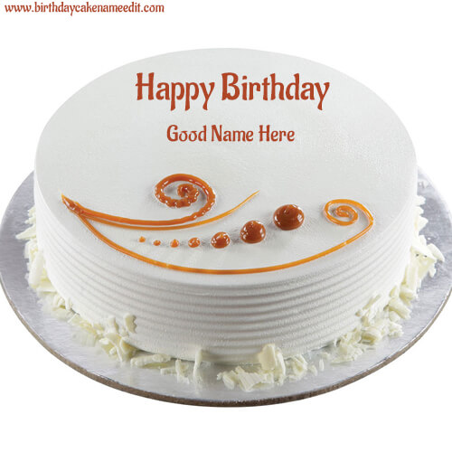 birthday cake with name editor