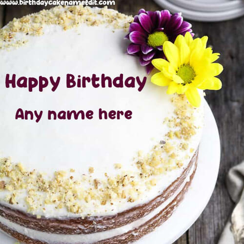 create Happy Birthday Cake with Name Image