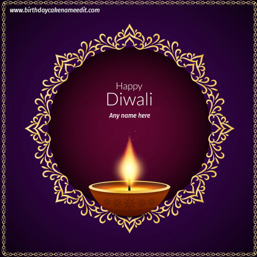 diwali wishes greeting card with name