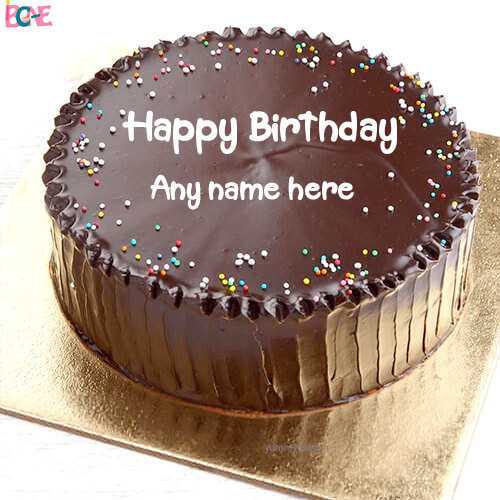 happy birthday cake with name photo edit