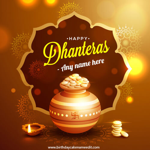 happy dhanteras wishes 2019 card with name edit