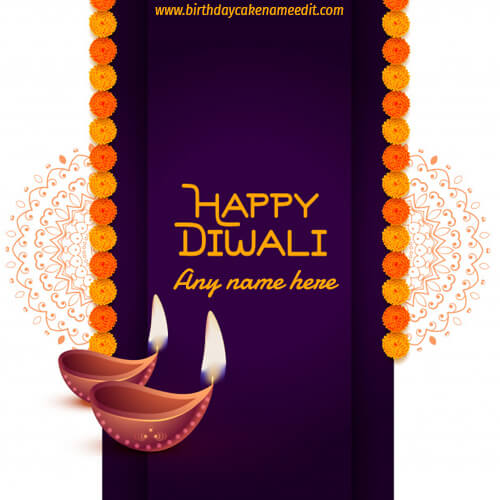 happy diwali greeting card with name pic