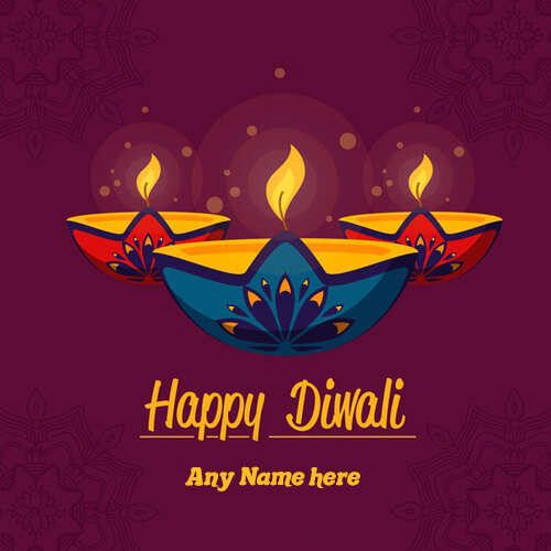 happy diwali greetings picture with my name editor