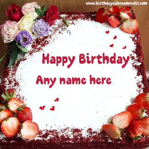 sending Happy Birthday cake with their name