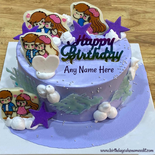 sending amazing Happy Birthday Cake with Name online