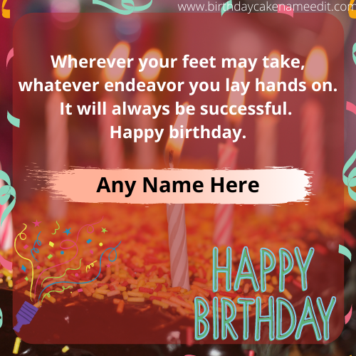 special Happy Birthday Greeting Card with name Edit