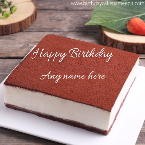 wish Happy Best Birthday with their name on cake